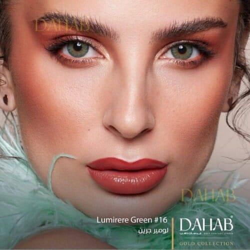 Buy Dahab Lumirere Green Eye Contact Lenses - Gold Collection - dahabcontactlenses.pk