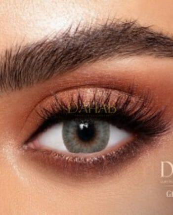 Buy Dahab Sabrin Gray Green Eye Contact Lenses - Gold Collection - dahabcontactlenses.pk