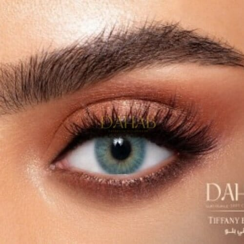 Buy Dahab Tiffany Blue Eye Contact Lenses - Gold Collection - dahabcontactlenses.pk